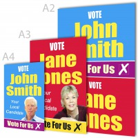 Election Posters A4, A3 & A2