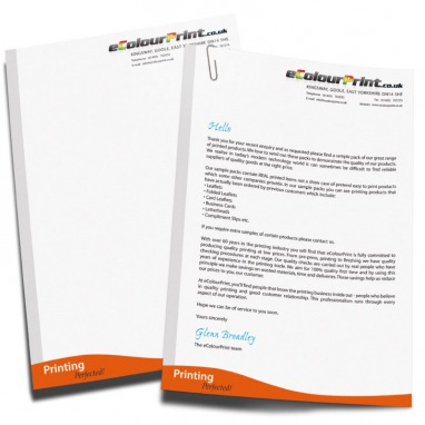 Letterheads full colour a4 on bond or conqueror ecolour print letterheads thecheapjerseys Gallery