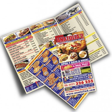 High Volume Folded Leaflets 130gms