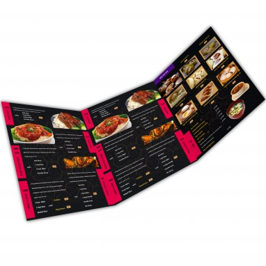 Large A2 Table Menus