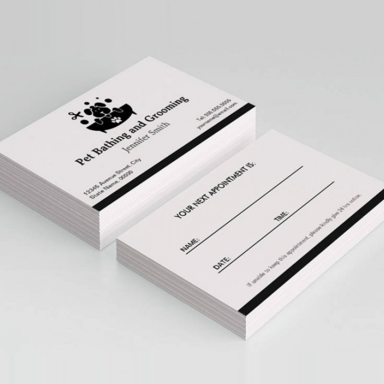 Appointment Cards One Or Two Sided  Ecolour Print