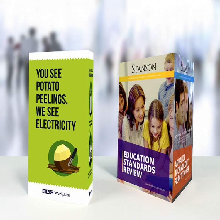 Laminated Table Talkers A A A EColour Print - Restaurant table talkers
