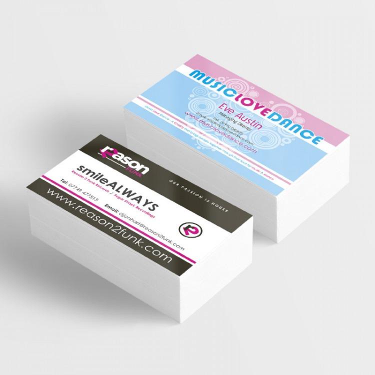 Silk Matt Laminated Business Cards