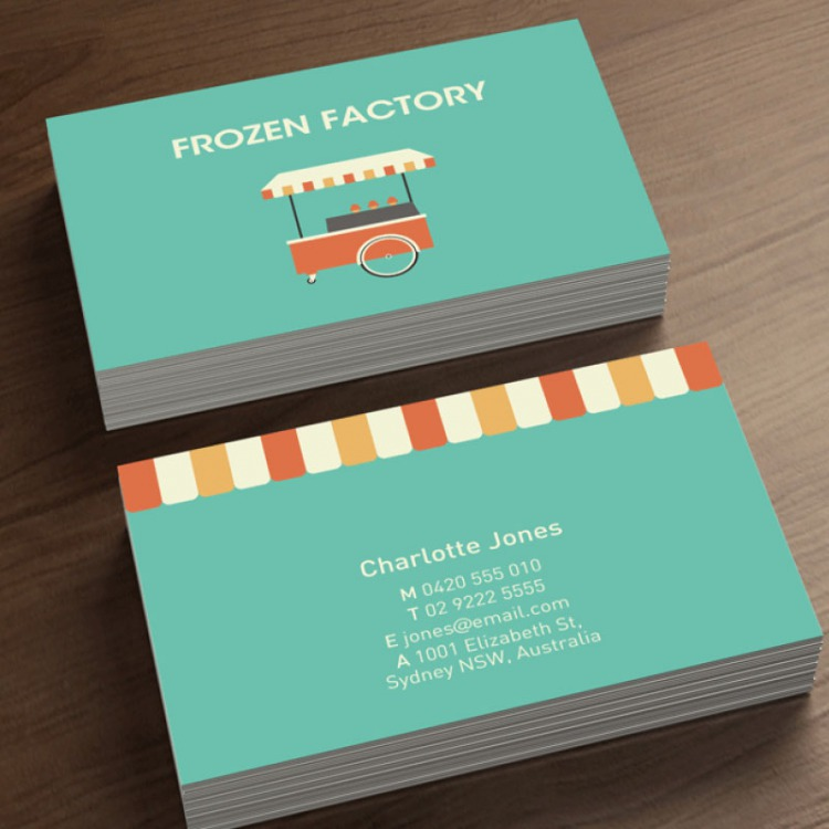 Ivory Business Cards on 350gms | eColour Print