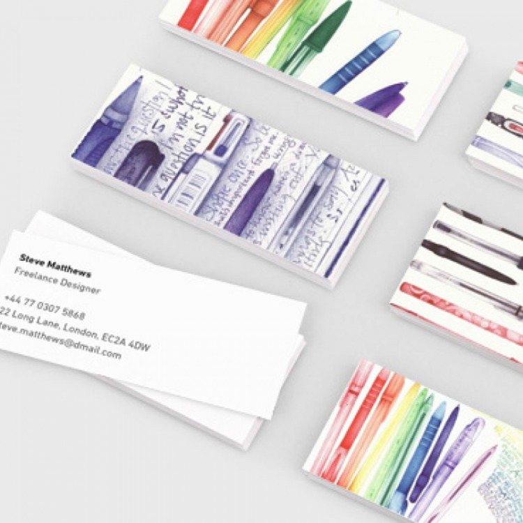 Square Business Cards on 350gms | eColour Print