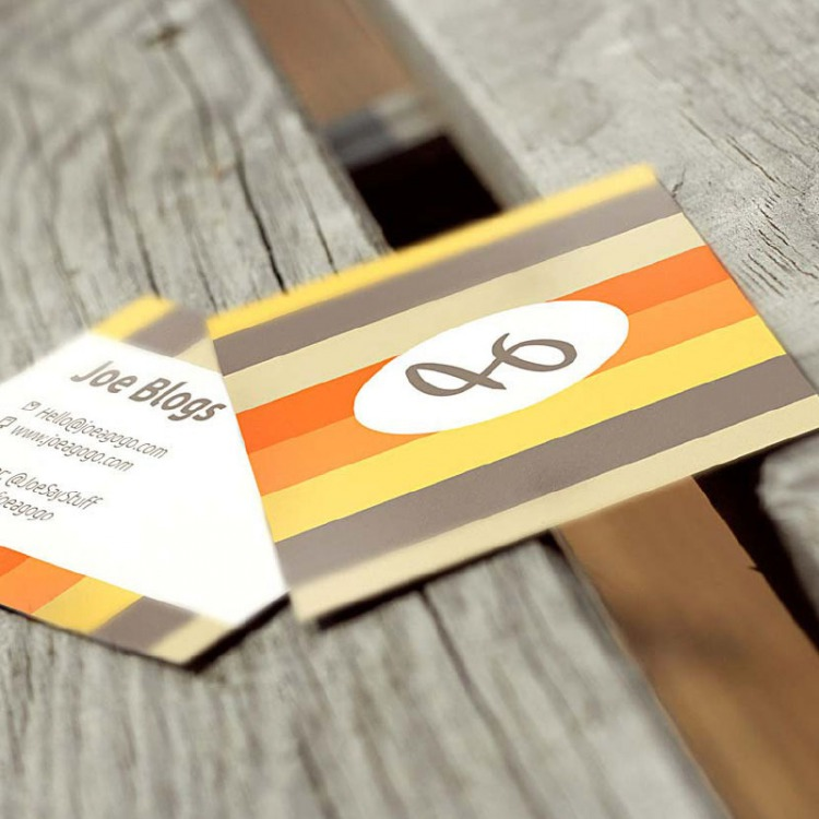 Square Business Cards on 350gms
