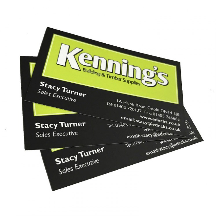 Silk Matt Laminated Business Cards | eColour Print