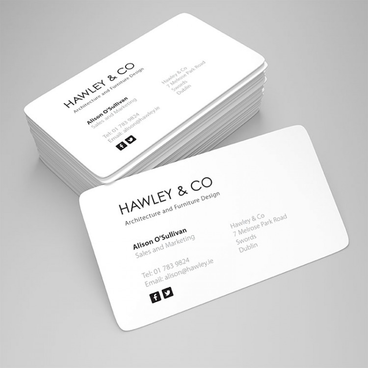 Silk matt laminated business cards ecolour print rounded corner business cards reheart Choice Image
