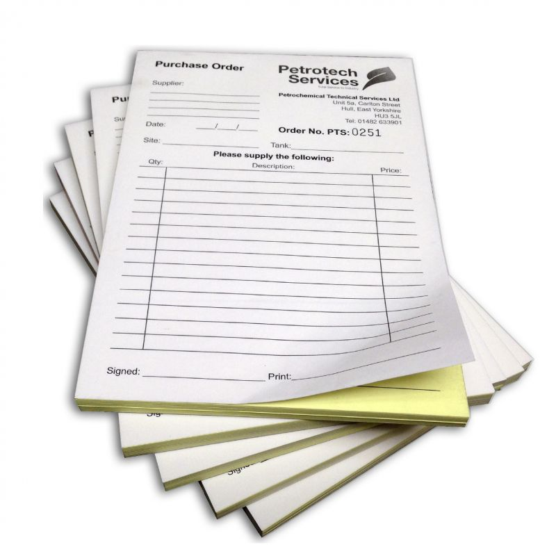 Ncr pads in a4 or a5 2 or 3 part glued pads ecolourprint for Ncr label templates