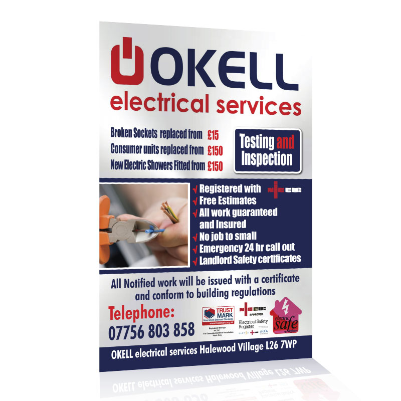 Okell Electrical Service Flyers