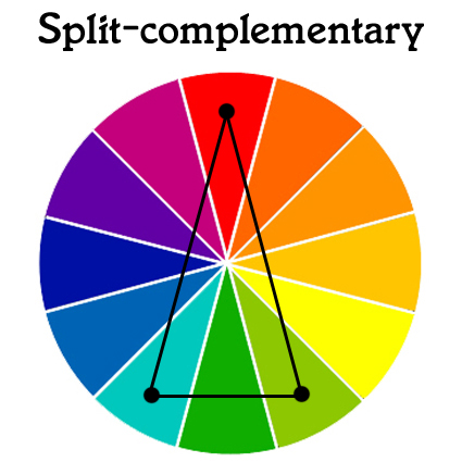 A Different Twist On The Standard Complementary Colour Scheme Is Split Option Select One And Then Match It With Two Colours