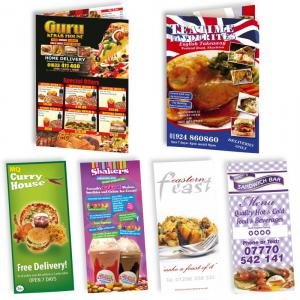 B4 Folded Menu Leaflet Deal with 30 Free A3 Posters
