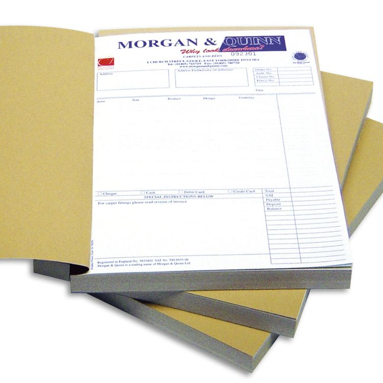 5 x PRINTED USED CAR PURCHASE INVOICE PADS A4-2 PART NCR IN STOCK READY!