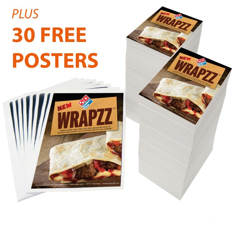 a4 folded menu leaflet deal with 30 free a3 posters ecolour print