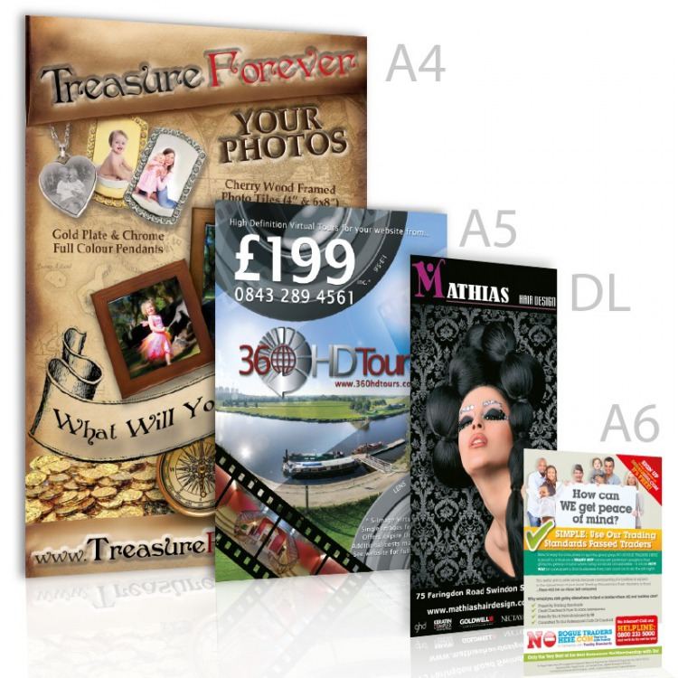 A4 A5 A6 or DL leaflets // flyers on 150gms Printed Full Colour Free Posters
