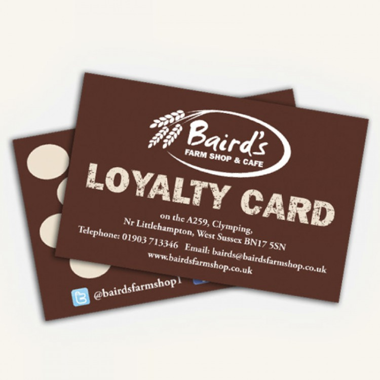 Loyalty Cards Full Colour On 350gms Ecolour Print
