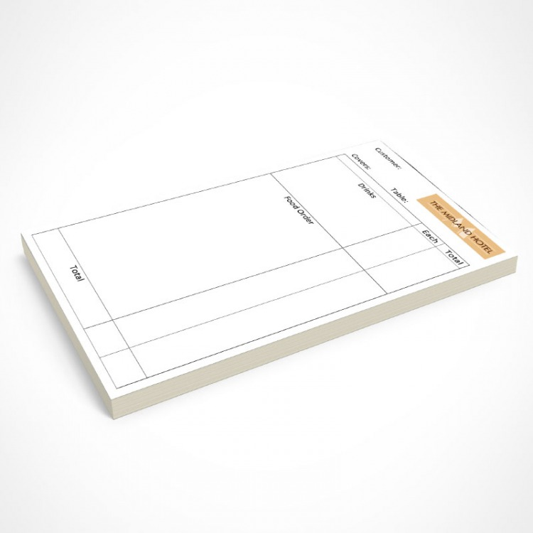 restaurant order ncr pads in dl 2 or 3 part trade price pads