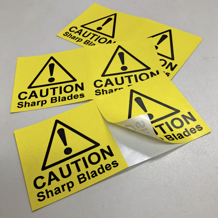 80 White Triangles Stickers Self Adhesive Vinyl Labels size 50mm each